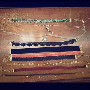 Jewelry - Bundle of 10 choker necklaces